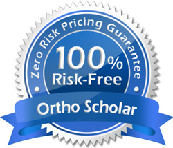 Zero Risk Pricing Gaurantee Seal - Ortho Scholar